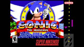 SONIC THE HEDGEHOG - GREEN HILL ZONE SNES Unnoficial