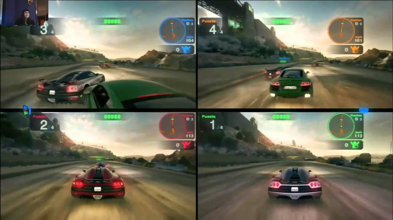 Blur 4 jugadores offline carreras de coches con for Sillas para jugar xbox