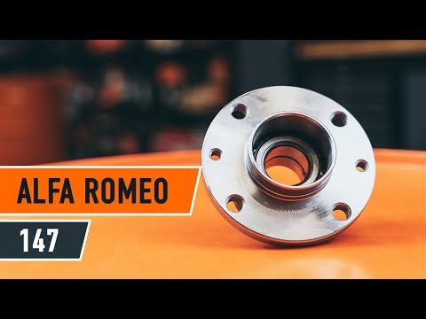 How to replace a Rear wheel bearing on ALFA ROMEO 147 TUTORIAL   AUTODOC