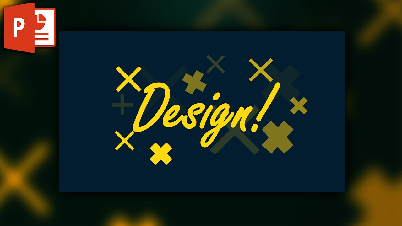 Quick poster design - Quick Poster Or Pattern Design In Powerpoint