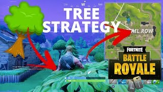 TREE STRATEGY - SECRET HIDDEN SPOT RETAIL ROW (Fortnite Battle Royal)