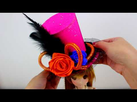 DIY Miniature: 1/3 BJD HAT for Halloween!