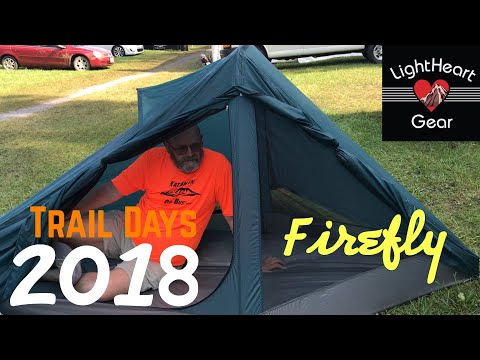 "Trail Days 2018 Gear Vendors ~ Lightheart Gear (Showcasing the new ""Firefly"" tent)"
