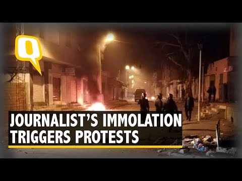 Violent Protests in Tunisia After Journalist Immolates Self | The Quint