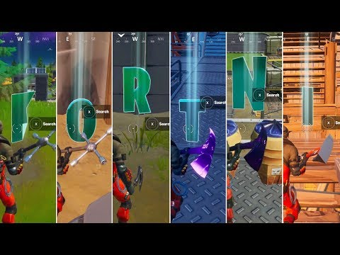 All Hidden Letters In Fortnite (Week 1-6)! Collect F-O-R-T-N-I Letters! - Fortnite Chapter 2