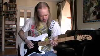 Iron Maiden The Evil That Men Do Guitar Tutorial / Lesson on Jackson Adrian Smith San Dimas SDX