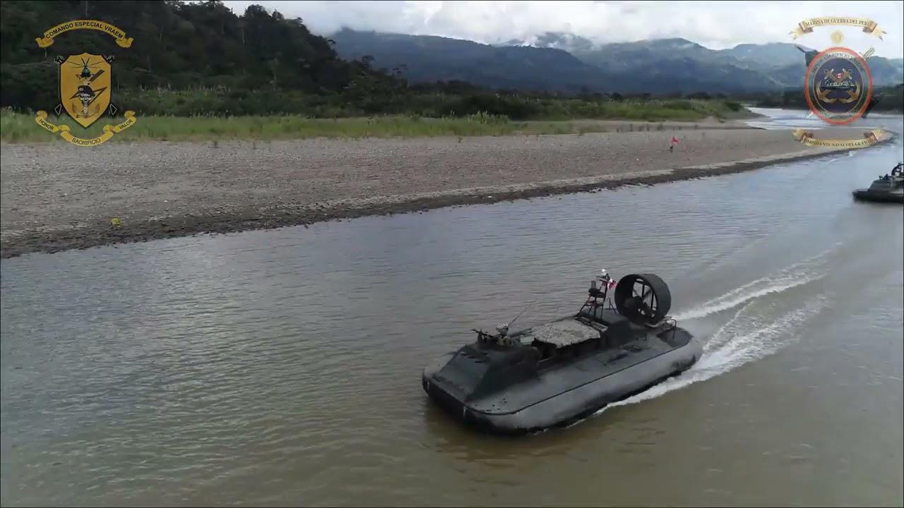 Hovercraft de la Marina de Guerra del Peru presente en  (VRAEM) Prueba de Fuego