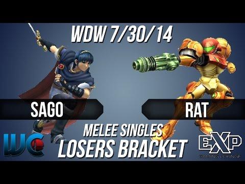 WDW 7/30/14 - Sago (Marth) vs. Rat (Samus)...