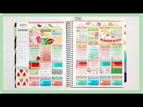 Plan with Me | Watermelon Week (Instagram Link FIXED)