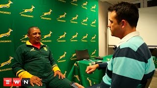 The new Springbok coach has a frank discussion with EWN Sport's Jean Smyth about transformation and his game plan for the future of South African rugby.  Click here to subscribe to Eyewitness News: http://bit.ly/EWNSubscribe  Like and follow us on: http://bit.ly/EWNFacebook AND https://twitter.com/ewnupdates  Keep up to date with all your local and international news: https://ewn.co.za  Produced by: Aletta Harrison