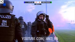 1.FC Lok Leipzig - BSG Chemie Leipzig   Pyro & Randale 22.11.2017