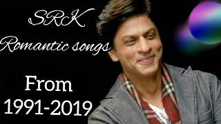 BEST ROMANTIC SONGS OF SHAHRUKH KHAN 1991-2019 | EVERGREEN HITS