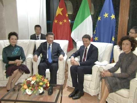 Chinese President Meets Italian PM