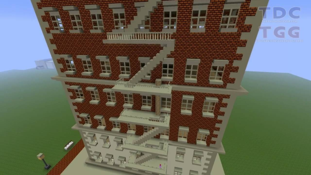 Minecraft Fix It Felix Jr Apartment Building Replica Youtube