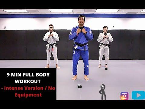 9 MIN HIIT FULL BODY WORKOUT - Intense Version / No Equipment I COBRINHA BJJ