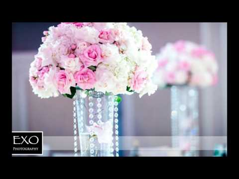 pink-and-teal-flower-centerpieces