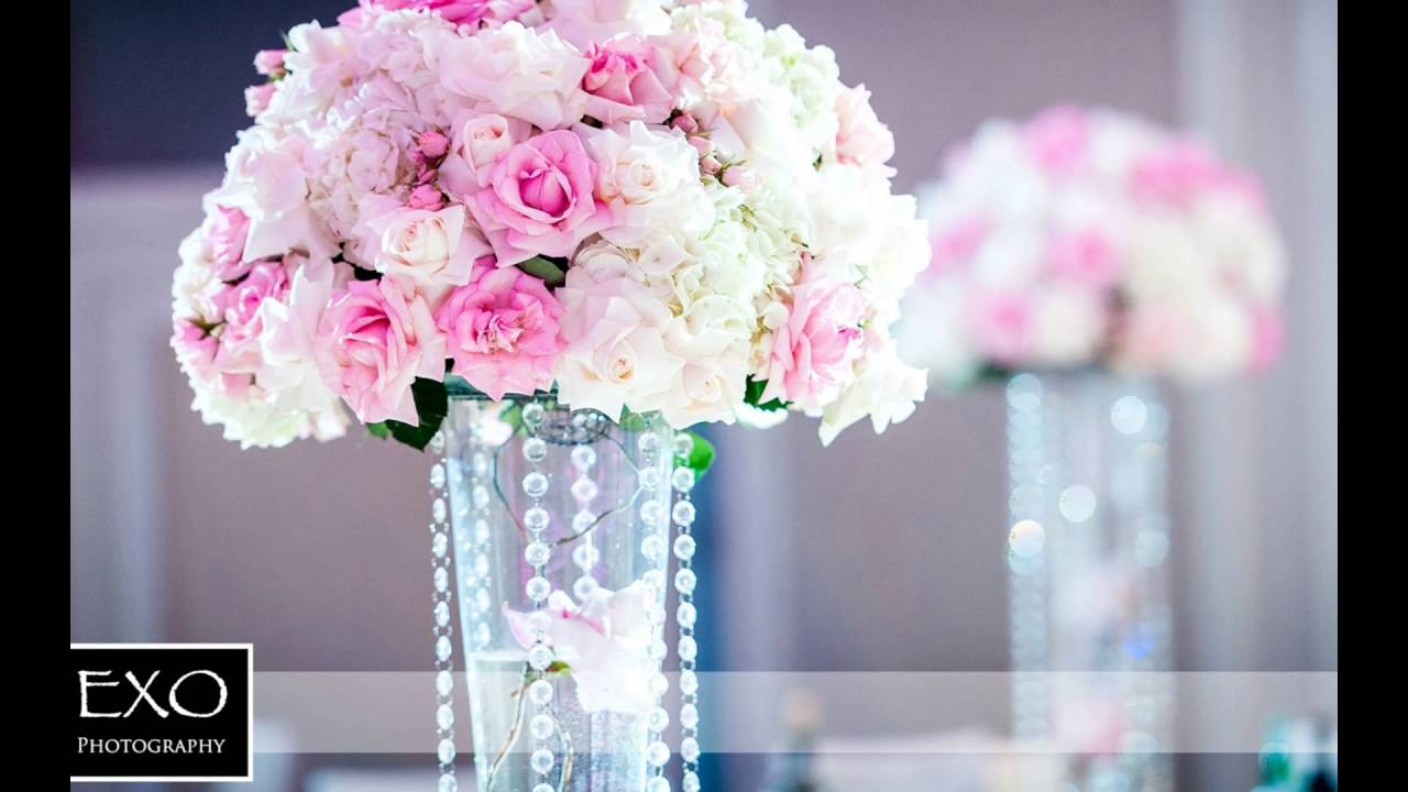 Pink and teal flower centerpieces youtube pink and teal flower centerpieces mightylinksfo