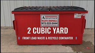 2 Cubic Yard Front Load Dumpster for Business Waste and Recycling Bin | Advantage Waste Disposal
