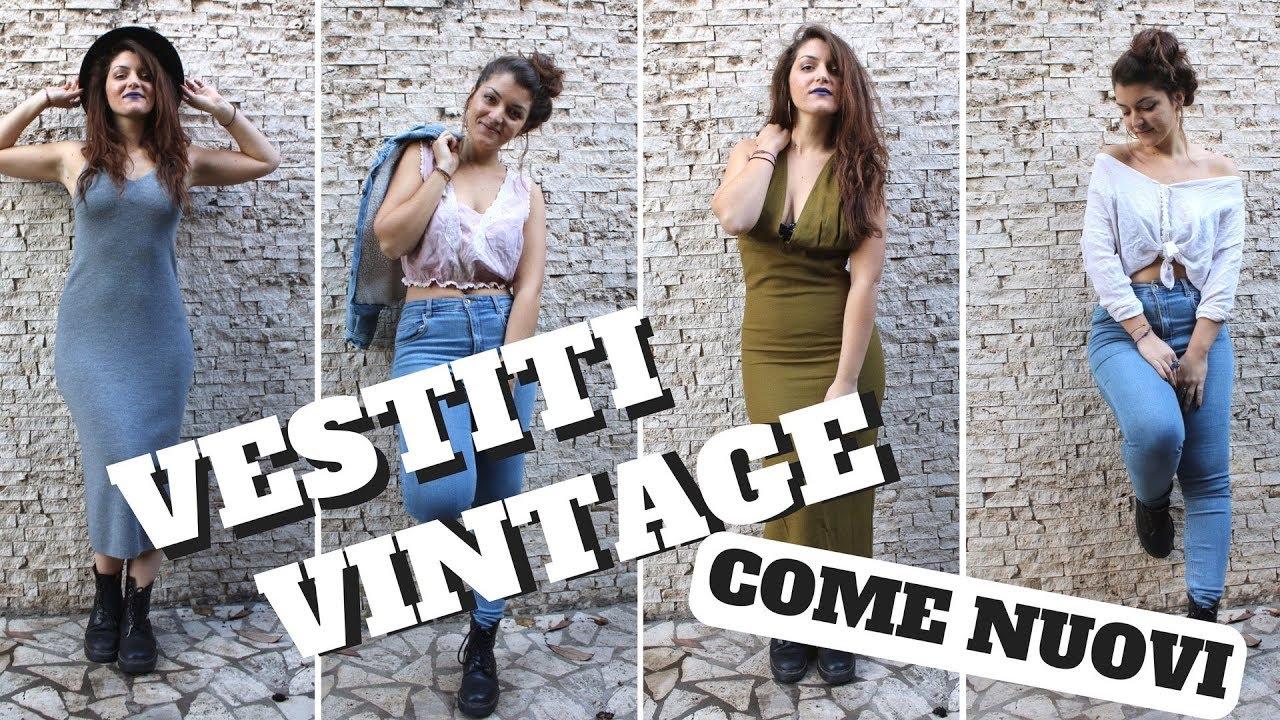 75f52ea04f470 RICICLO CREATIVO ABITI USATI! VINTAGE THRIFT HAUL! - YouTube