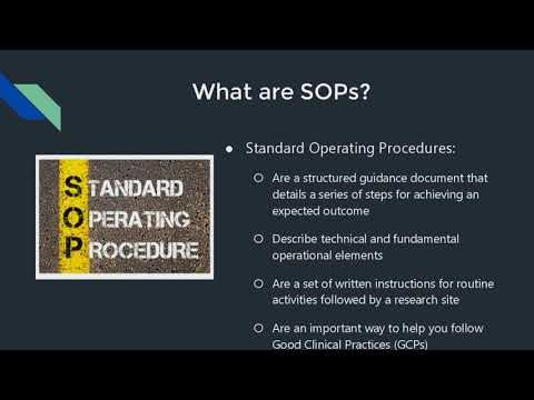 SOP Writing For Clinical Research Sites