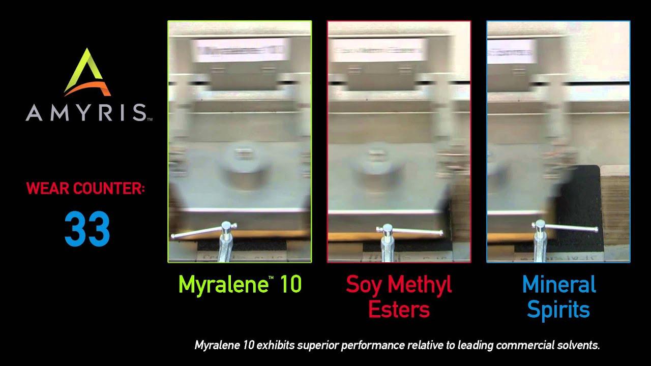 Myralene 10 Amyris Renewable Solvent Performance - YouTube