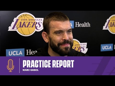 Marc Gasol discusses rotations and is locked in to finish out the season   Lakers Practice