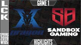 kz-vs-sb-highlights-game-1-lck-spring-2019-week-1-day-5-king-zone-dragonx-vs-sandbox-gaming-g1