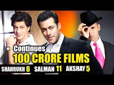 100 Crore Club King Of Bollywood - Salman Khan, Shahrukh Khan, Akshay Kumar