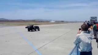 Smoke & Thunder Jet Car @ 2014 Hollister Air Show - High Speed Pass
