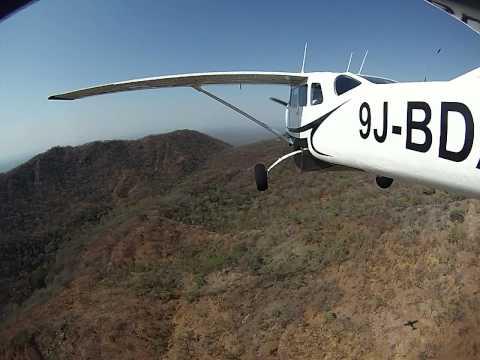 Cessna 206 Flight over the escarpment FLSK - Mastock, Lower Zambezi
