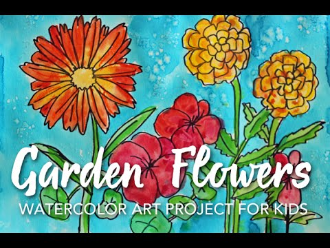 Flower Garden Drawing how to draw garden flowers - youtube