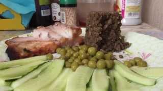 Asmr Eating Chewing Whisper - Fish Witn Lentil / АСМР еда чавканье - Рыба с чечевицей