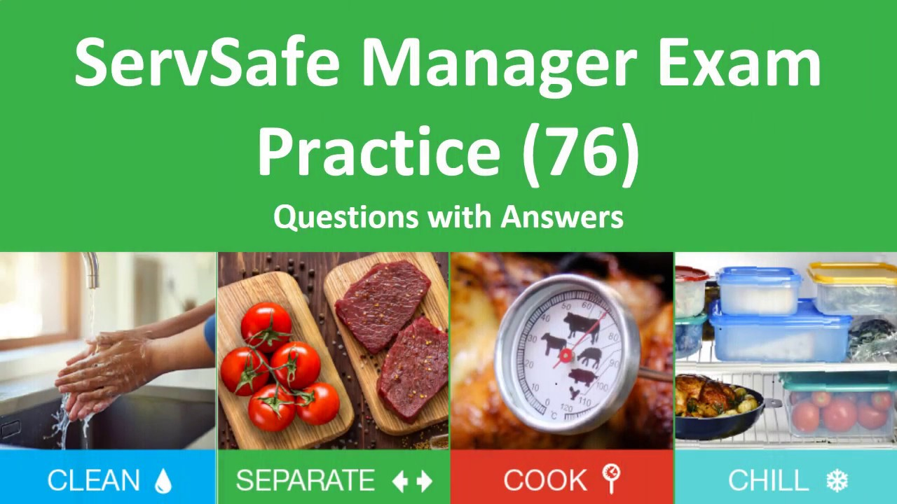 Servsafe Manager Practice Test 76 Questions And Answers Youtube