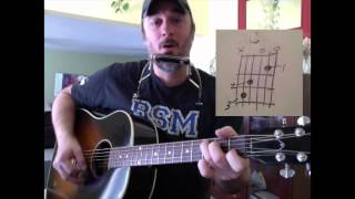 K'naan's Wavin' Flag -- Guitar and Harmonica Lesson