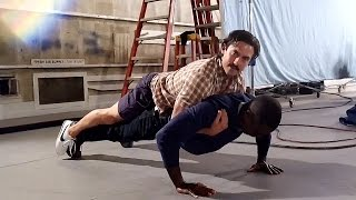 Sterling K. Brown & Milo Ventimiglia Reenact #ThisIsUs Push-Up Scene