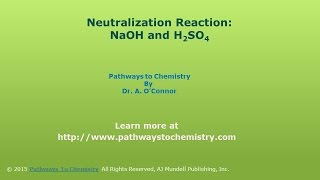 Neutralization Reaction: Determine Molarity of a sulfuric Acid Solution when Neutralized by NaOH