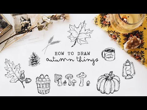 How To Draw Autumn Things Free Printable