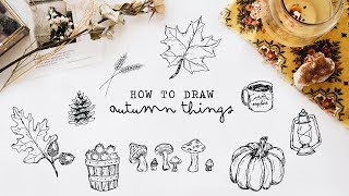 autumn drawing lesson