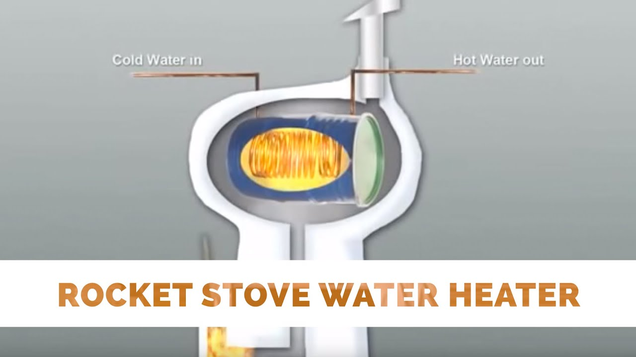 Rocket stove water heater youtube for Rocket water heater plans