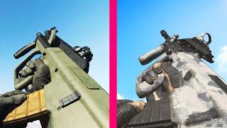 Call of Duty Modern Warfare vs Modern Warfare 2 Remastered - Weapons Comparison