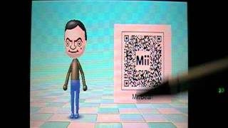 Nintendo 3DS Mii Maker QR codes Sonic, Mr Bean, and Chuck Norris