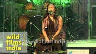 Karbi folk singer - Phu Ning Ding (Phu Baba) performs in Delhi