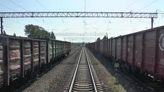 Вид из окна поезда - Выезд из Вологды и из Сухоны