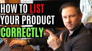Amazon FBA - How to List a Product on Amazon!