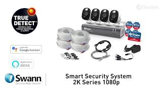 Swann 2MP SWDVK-84580V4FB 8 Ch Recorder with 4x Flood Light Bullet Cameras (8x4) video