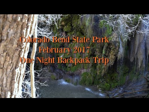 Backpacking Colorado Bend State Park Feb 2017