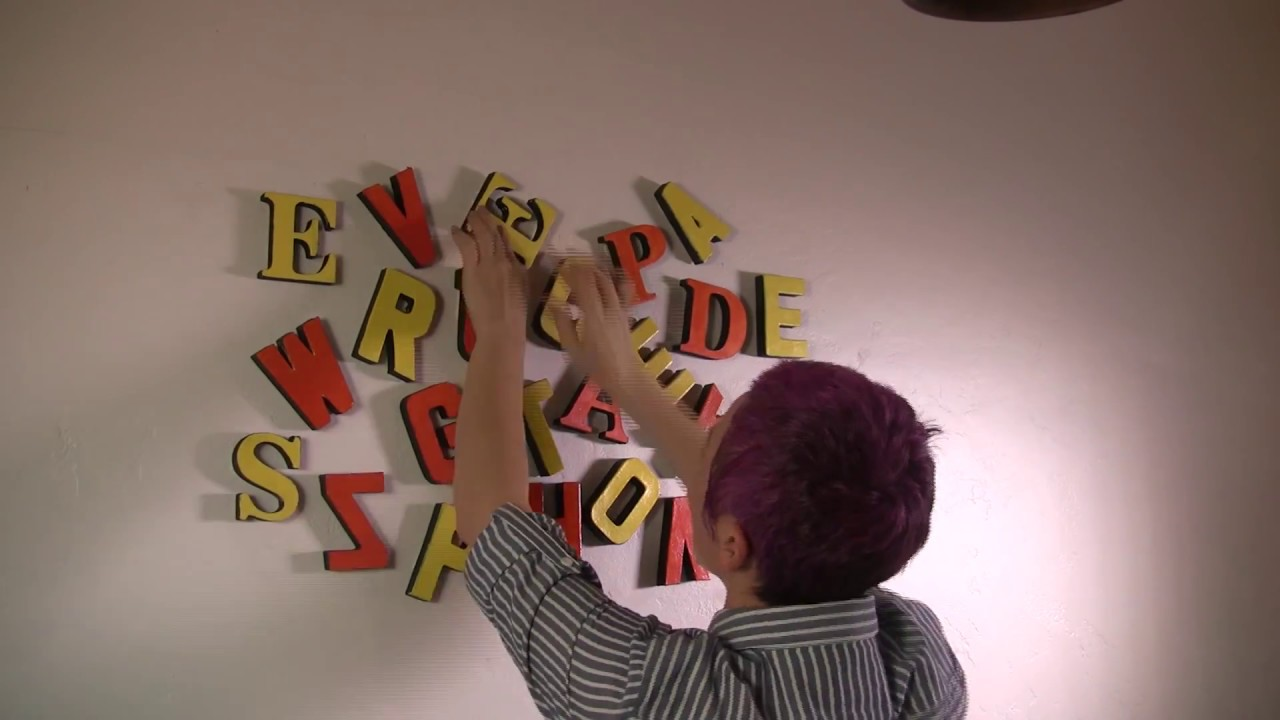 Scattered Letter Wall Art With Paper Mache Decorating Idea Easy