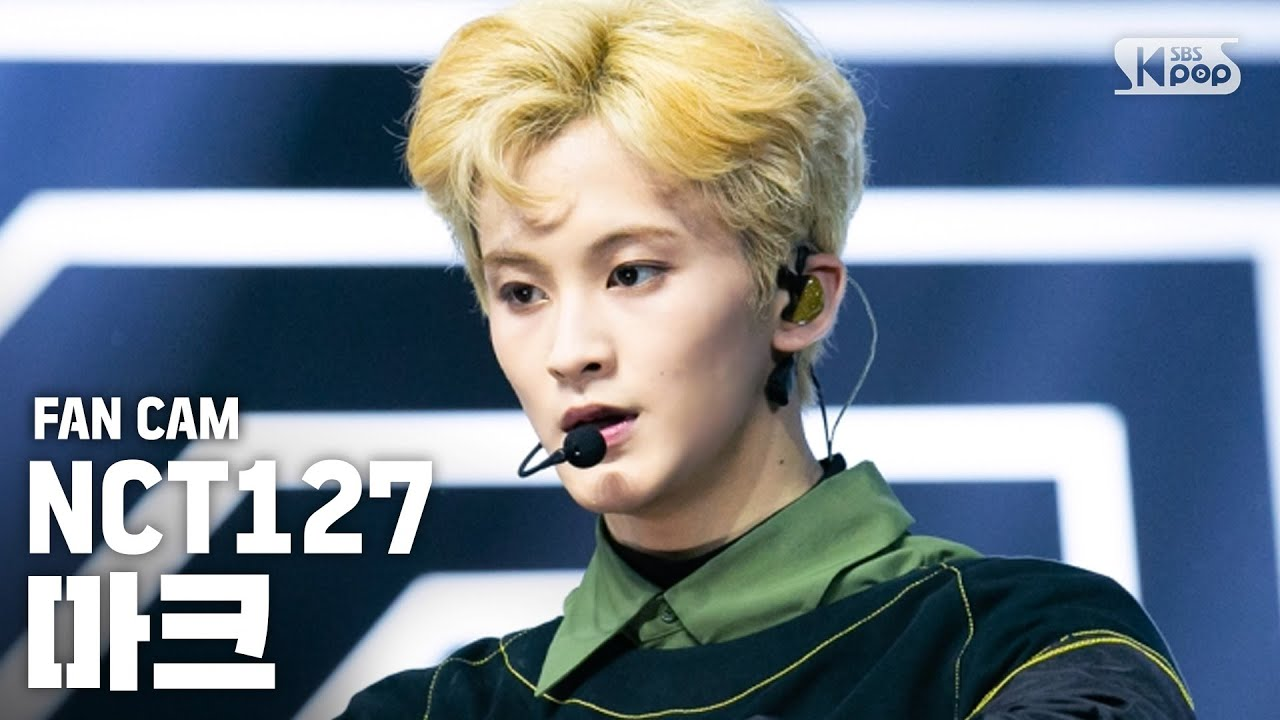 [안방1열 직캠4K] NCT127 마크 'Superhuman' (NCT127 MARK Fancam)│@SBS Inkigayo_2019.5.26