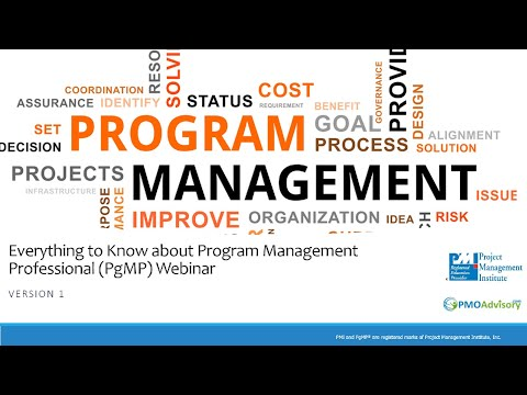 Everything About PgMP (Program Management Professional - Webinar Version - March 2019)