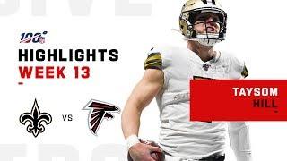 Taysom Hill Highlights vs. Falcons   NFL 2019